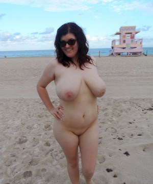On women Chubby beach nude